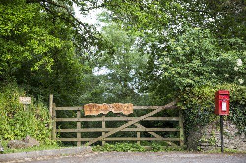 Entrance to the Dartington meadow