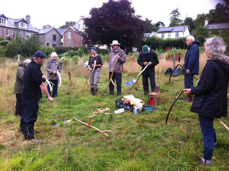 Scything at Pound Meadow, Chagford